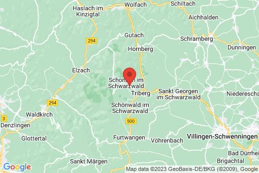 Karte Schonach im Schwarzwald