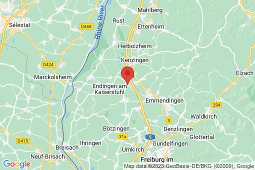 Karte Riegel am Kaiserstuhl