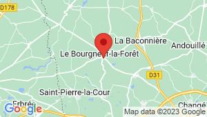 Carte de localisation du centre de contrôle technique LE BOURGNEUF LA FORET