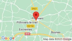 Carte de localisation du centre de contrôle technique PITHIVIERS