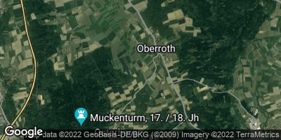 Google Map of Oberroth bei Illertissen