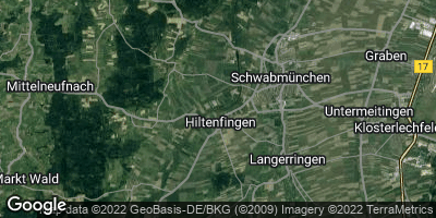 Google Map of Hiltenfingen