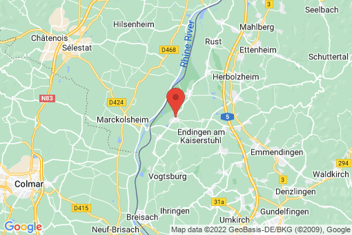 Karte Wyhl am Kaiserstuhl