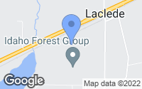 Map of Laclede, ID