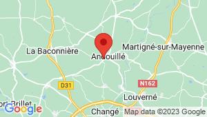 Carte de localisation du centre de contrôle technique ANDOUILLE