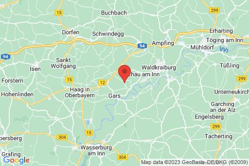 Karte Biburg, Gemeinde Gars am Inn