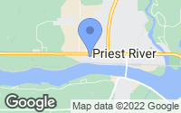 Map of Priest River, ID