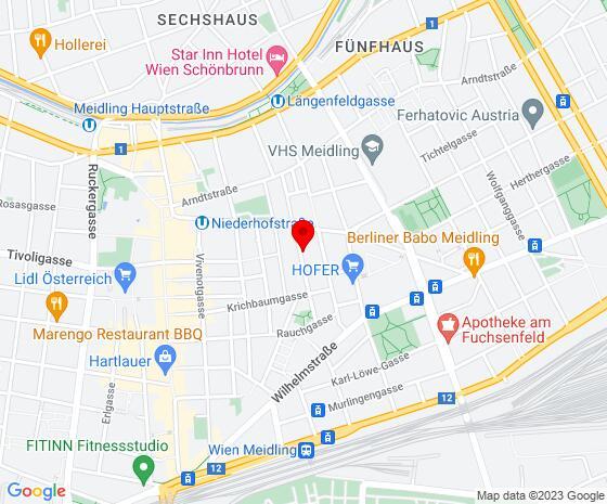 Google Map of Bendlgasse 13/ EG, 1120 Wien