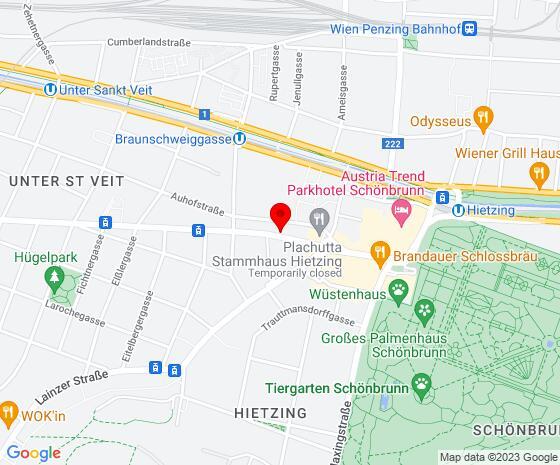 Google Map of Hietzinger Hauptstraße 36/10, 1130 Wien