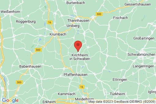Karte Kirchheim in Schwaben