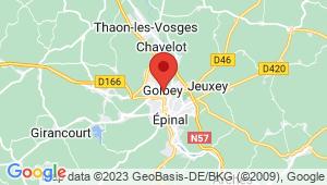 Carte de localisation du centre de contrôle technique GOLBEY