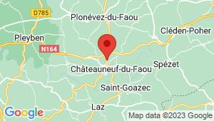 Carte de localisation du centre de contrôle technique CHATEAUNEUF DU FAOU