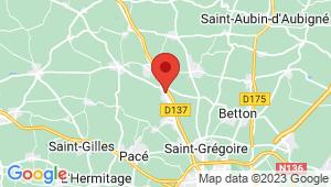 Carte de localisation du centre de contrôle technique LA MEZIERE