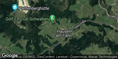 Google Map of Hausen am Tann