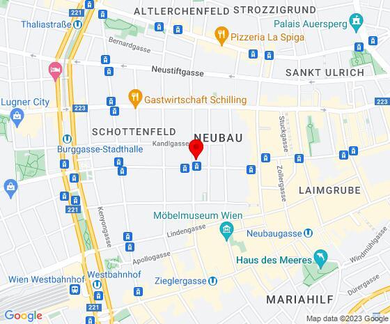 Google Map of Zieglergasse 42/13, 1070 Wien