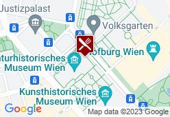 café & restaurant im naturhistorischen museum - Karte