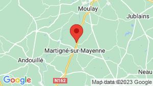 Carte de localisation du centre de contrôle technique MARTIGNE SUR MAYENNE