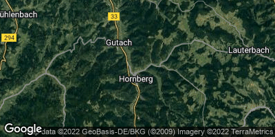 Google Map of Hornberg