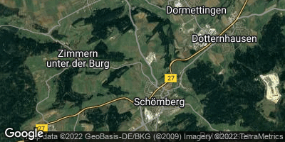 Google Map of Schömberg bei Balingen