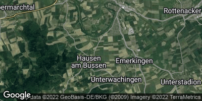 Google Map of Hausen am Bussen