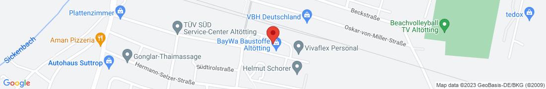 BayWa Baustoffe Altoetting Anfahrt