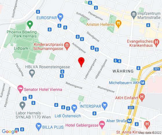 Google Map of Kalvarienberggasse 57/18, 1170 Wien