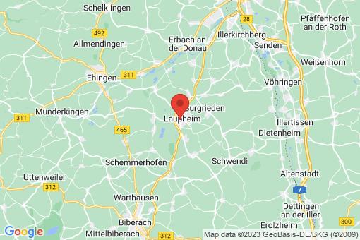 Karte Laupheim