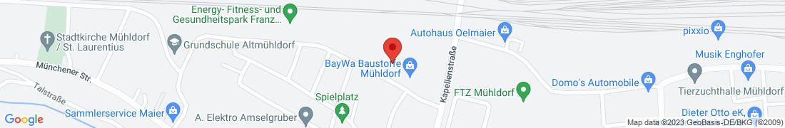 BayWa Baustoffe Muehldorf Anfahrt