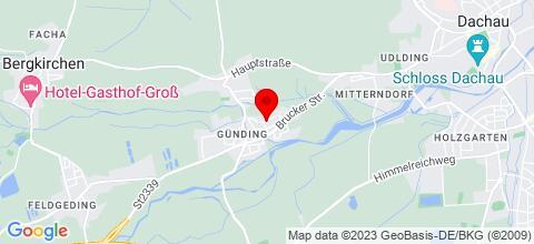 Google Map für Ferienwohnung/Monteurzimmer - Günding b. Dachau