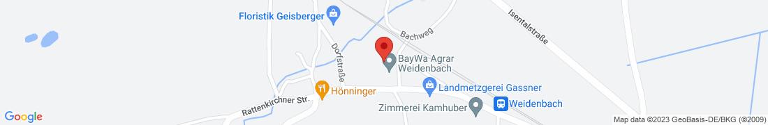 BayWa Agrar Weidenbach Anfahrt