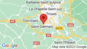 Carte de localisation du centre de contrôle technique ROSIERES PRES TROYES