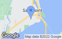 Map of Sandpoint, ID