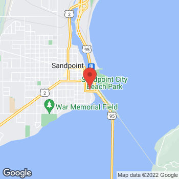 Map of Verizon Authorized Retailer - TCC at 201 E.Superior St, Sandpoint, ID 83864