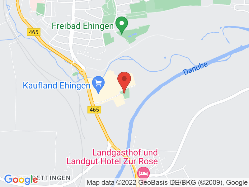 Map of BED Businesspark Ehingen Donau