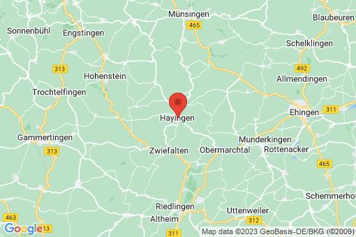 Karte Hayingen