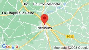 Carte de localisation du centre de contrôle technique NEMOURS