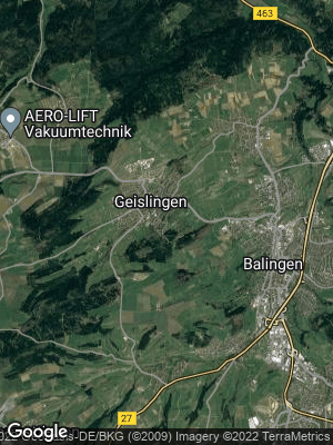Google Map of Geislingen bei Balingen