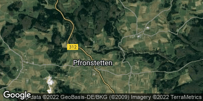 Google Map of Pfronstetten