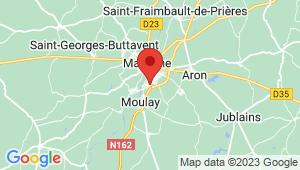 Carte de localisation du centre de contrôle technique Mayenne
