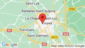 Carte de localisation du centre de contrôle technique Sainte Savine