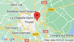 Carte de localisation du centre de contrôle technique SAINT PARRES AUX TERTRES