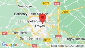 Carte de localisation du centre de contrôle technique Troyes