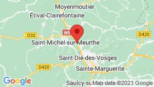 Carte de localisation du centre de contrôle technique SAINT DIE