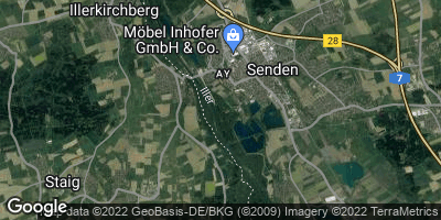 Google Map of Ay an der Iller