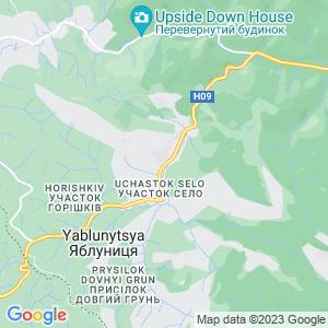 Карта города Яблуницы