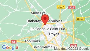 Carte de localisation du centre de contrôle technique LA CHAPELLE SAINT LUC