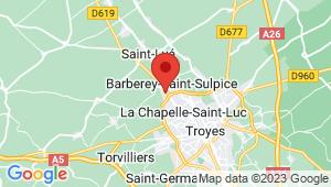 Carte de localisation du centre de contrôle technique BARBEREY SAINT SULPICE