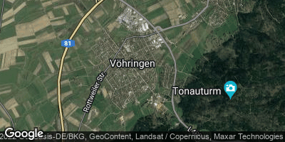 Google Map of Vöhringen