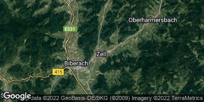 Google Map of Zell am Harmersbach