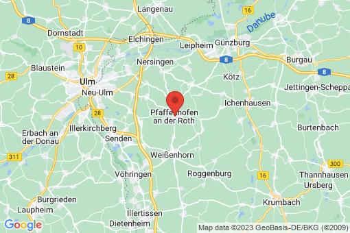 Karte Pfaffenhofen an der Roth